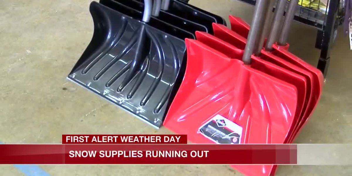 Snow supplies running out at some stores