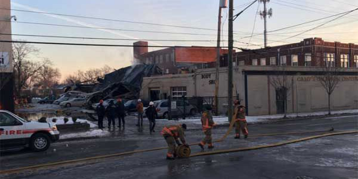 Evanston business collapses after fire