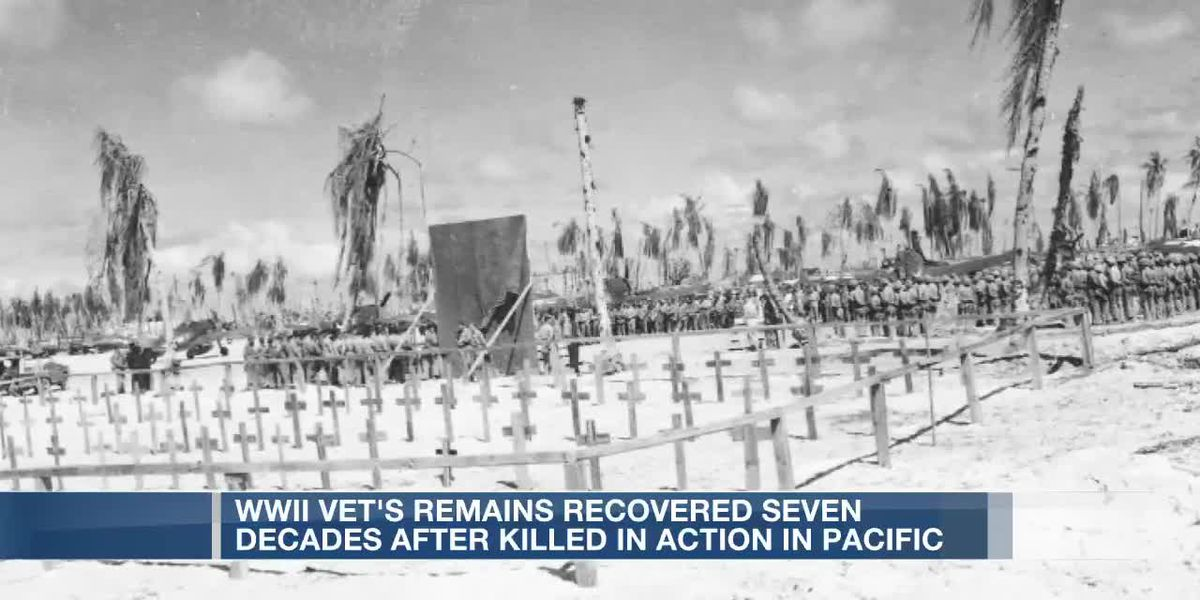 WWII vet's remains recovered seven decades after killed in action in Pacific