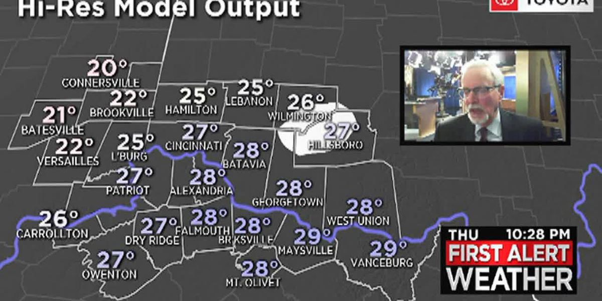 Colder air is moving into the Tri-State