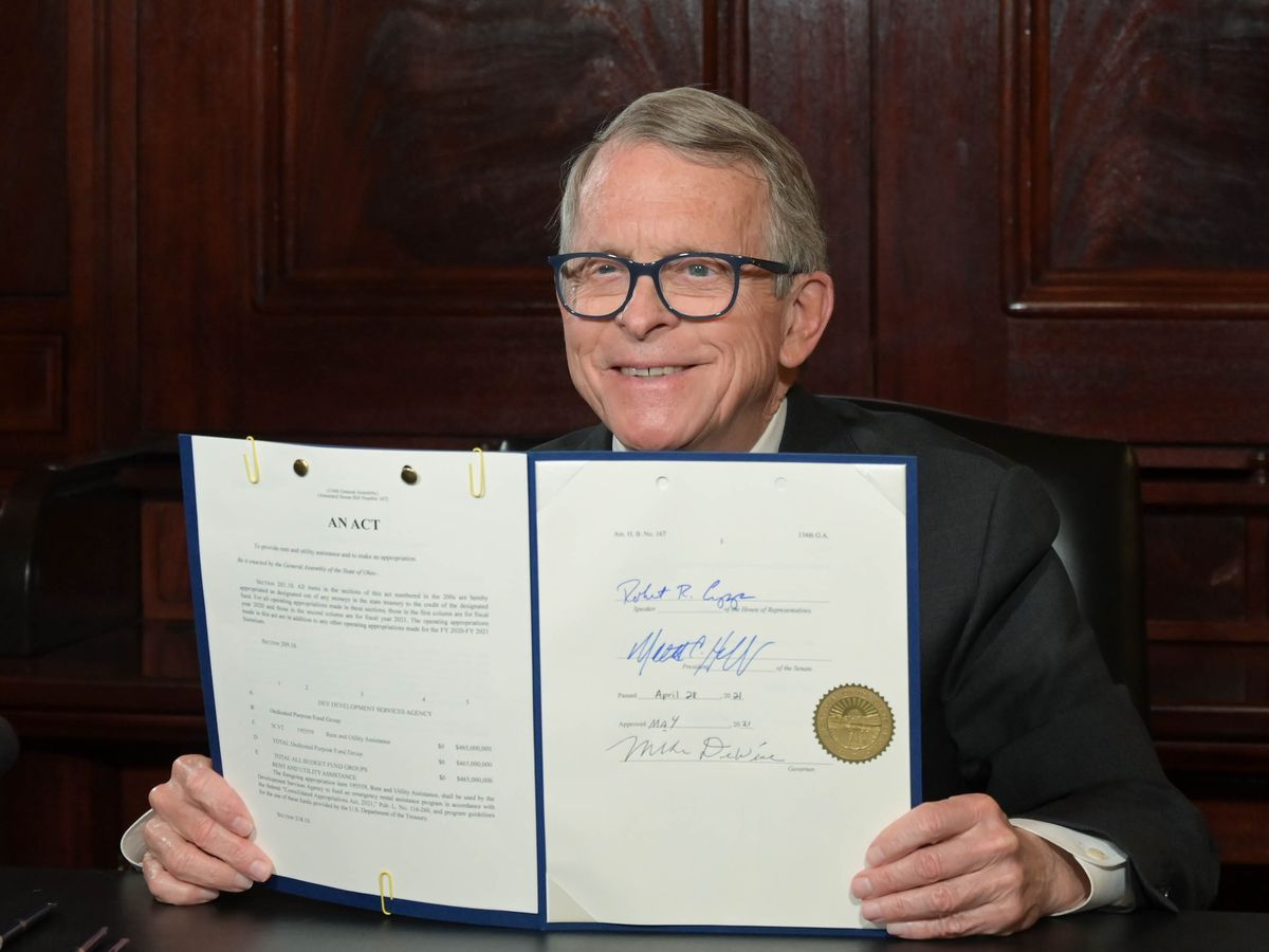 Gov. DeWine signs bill into law that provides millions in rent and utility assistance to Ohioans