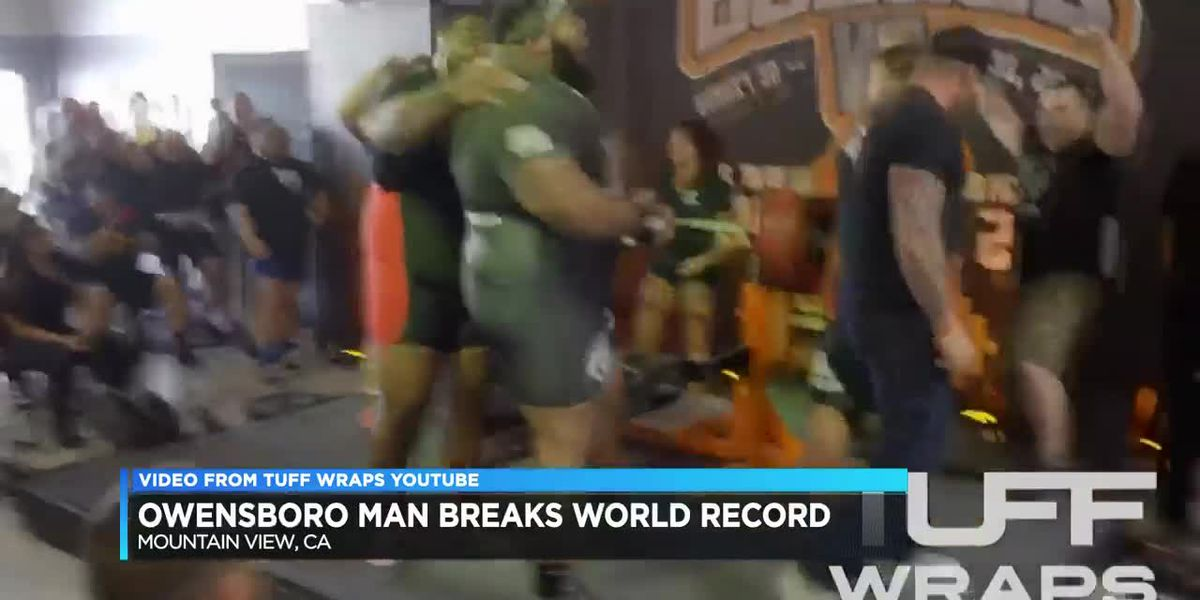 Owensboro man breaks world bench pressing record