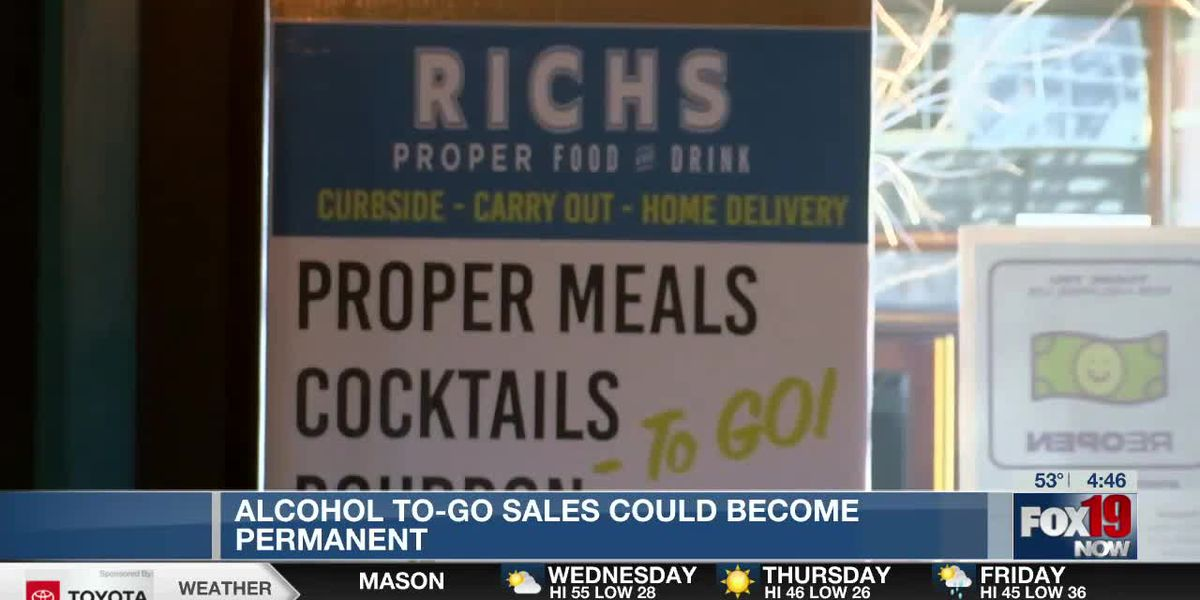 Alcohol to-go sales could become a permanent fixture in Kentucky