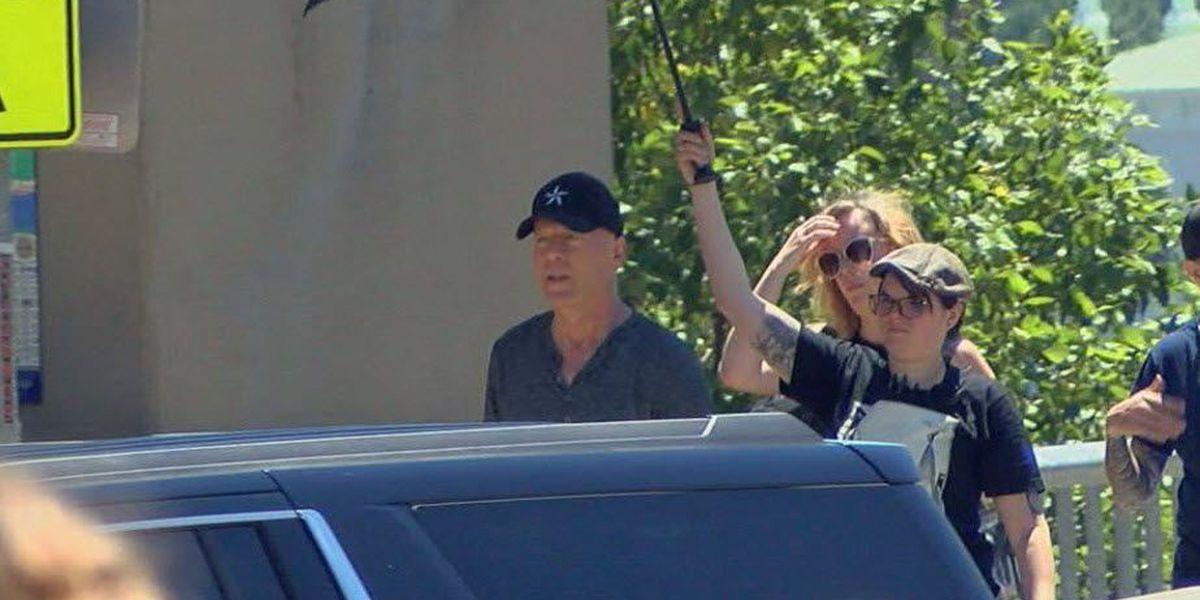 Officials warn of fake gunfire during Bruce Willis movie shoot