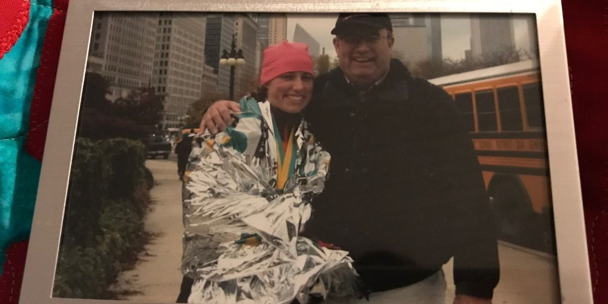 Triathlete wants to finish the race she started for her father, but she needs your help