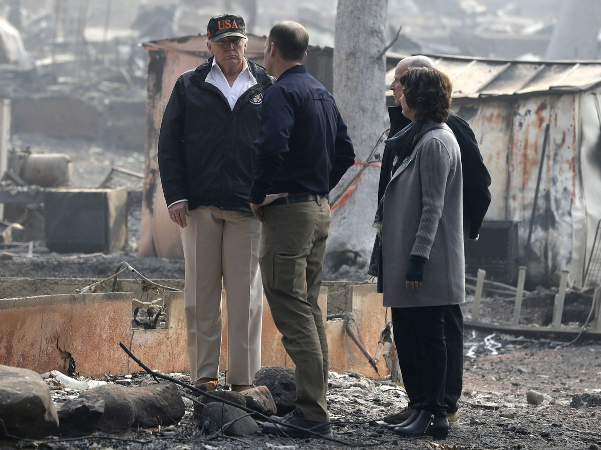 The Latest: Governor says Trump 'got our back' in wildfires