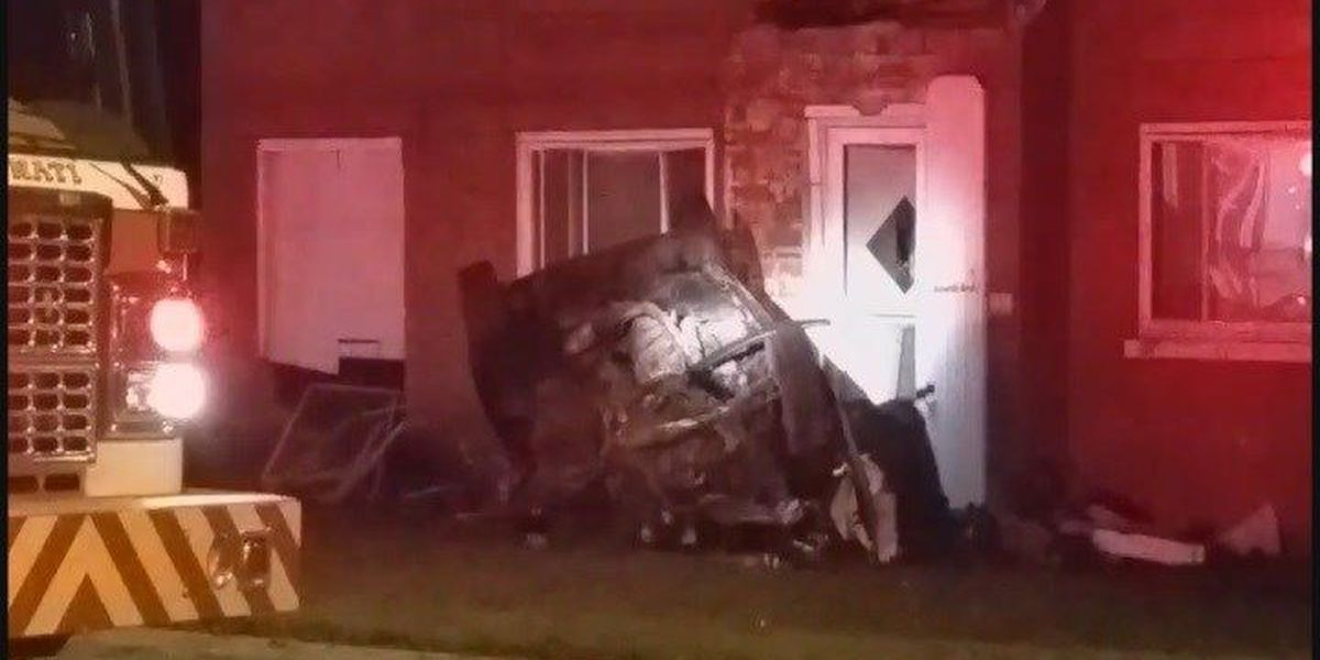 One dead, one critical after car crashes into building