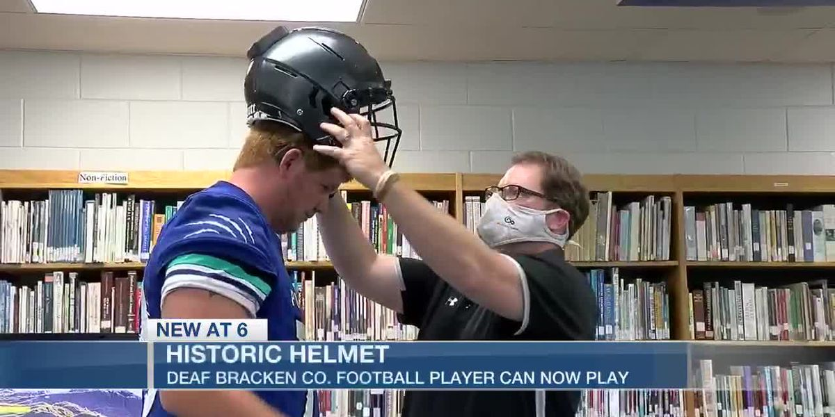 Tri-State football player gets one of a kind helmet