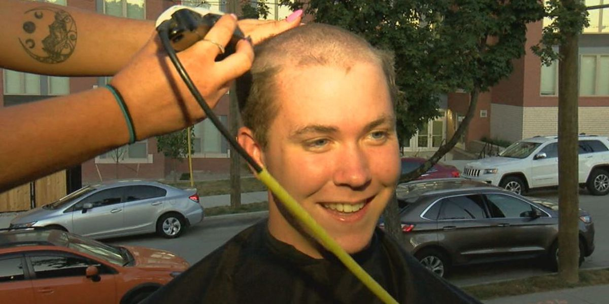 UC students shave their heads for a good cause