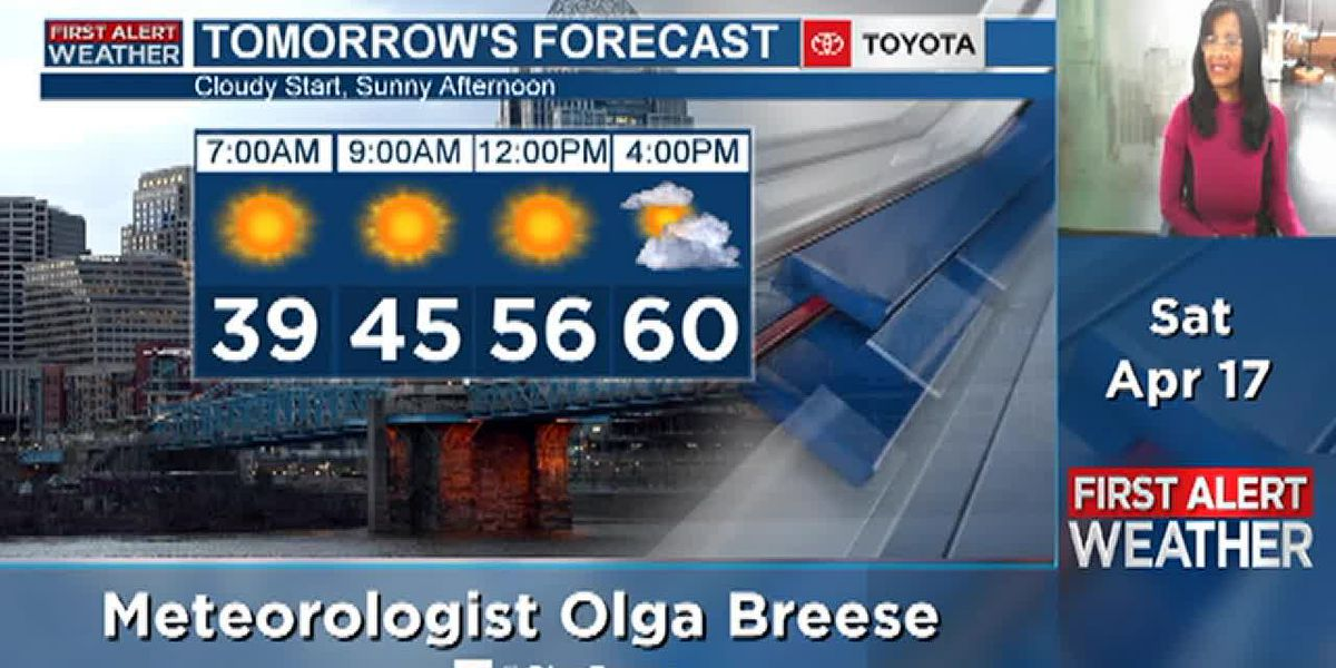 More sunshine on Sunday, but sill a bit cool
