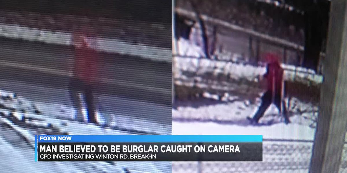 Man believed to be burglar caught on camera