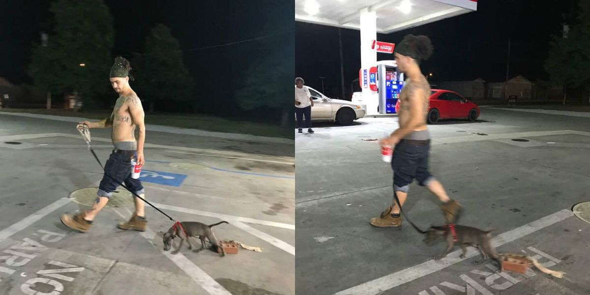 Authorities investigating after photo shows dog apparently tied to bricks in Rowan Co.