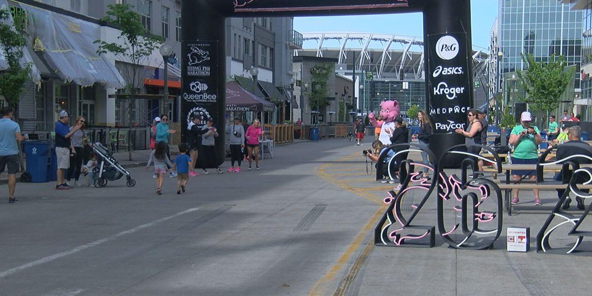 Runners, walkers participate in virtual Flying Pig marathon