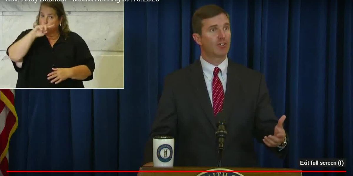 Gov. Beshear holds press briefing as mask mandate takes effect in Kentucky