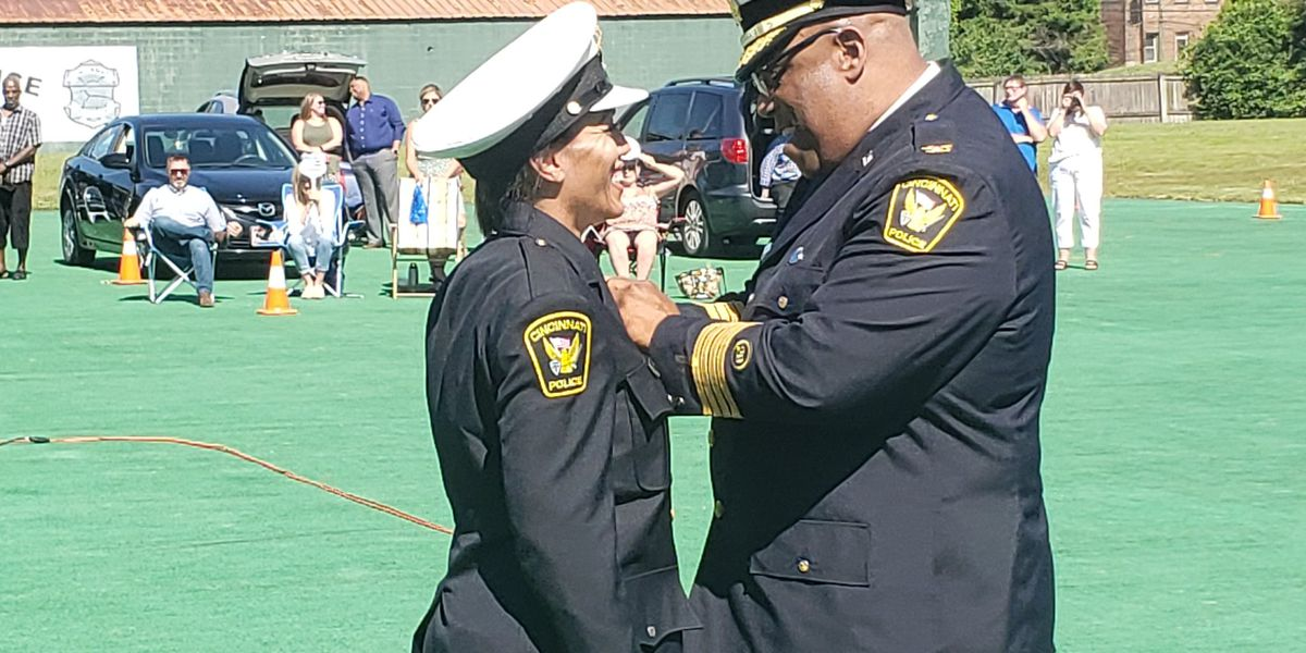New Cincinnati Police officers enter force at 'trying time,' chief says