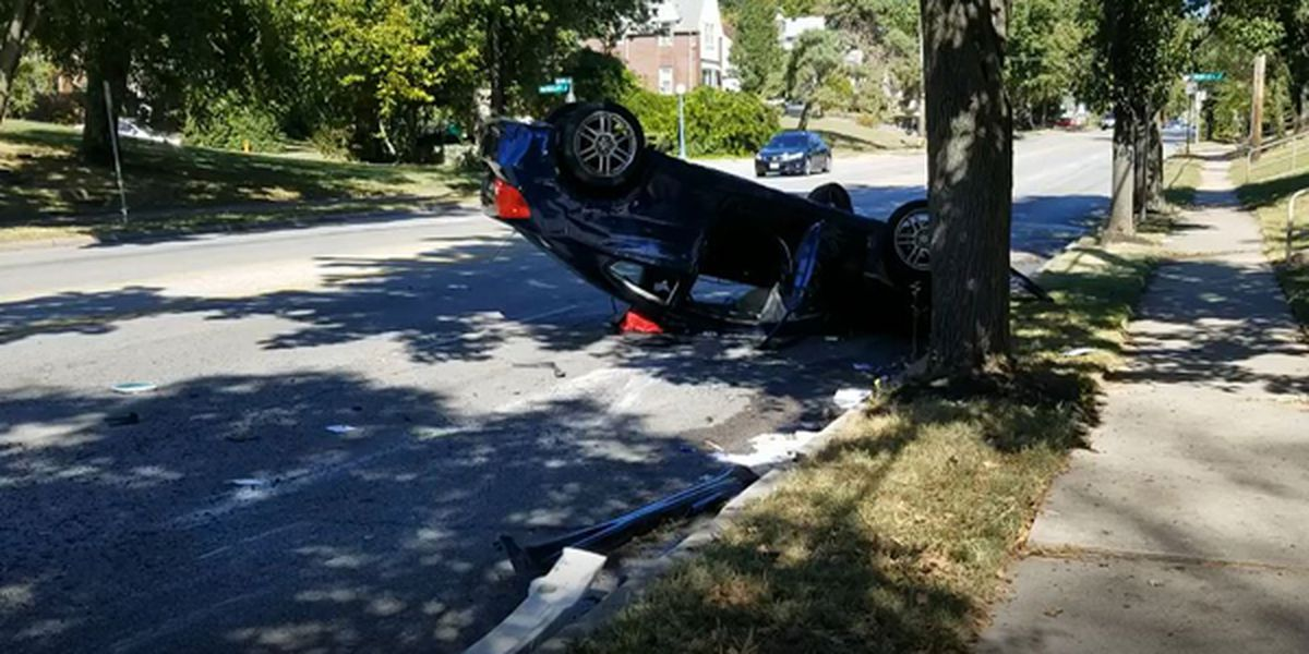 Car flips in Roselawn, at least one person trapped