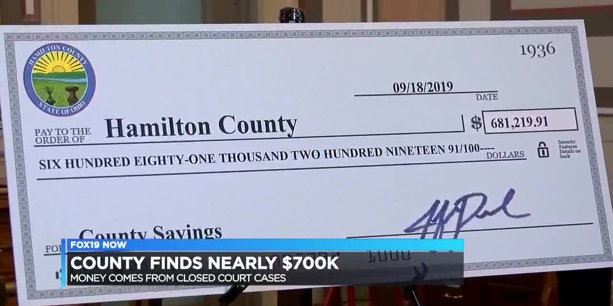 Hamilton Co. finds nearly $700,000 from closed court cases