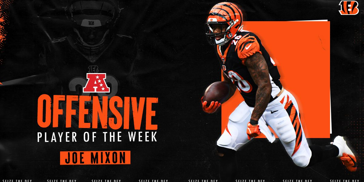 Mixon earns AFC honors after Sunday's 3 TD performance