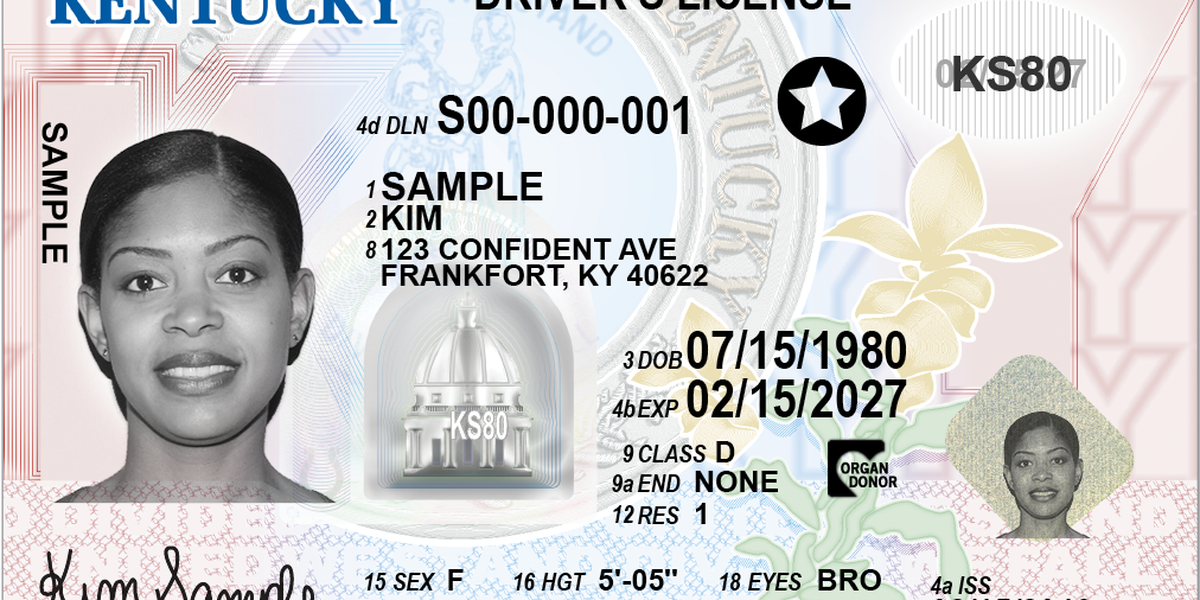 Find out when each KY county will phase in new REAL ID-compliant licenses