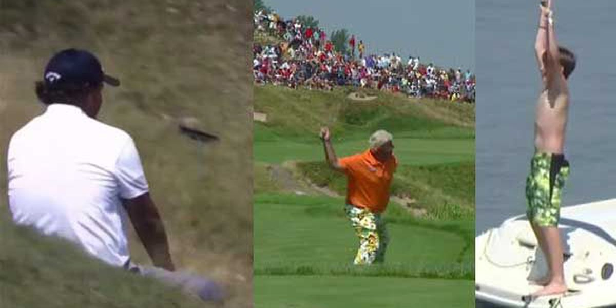 MUST SEE: Mickelson slides, Daly heaves club at PGA