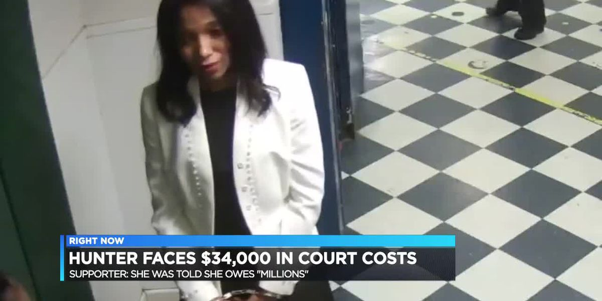 Hunter facing court costs