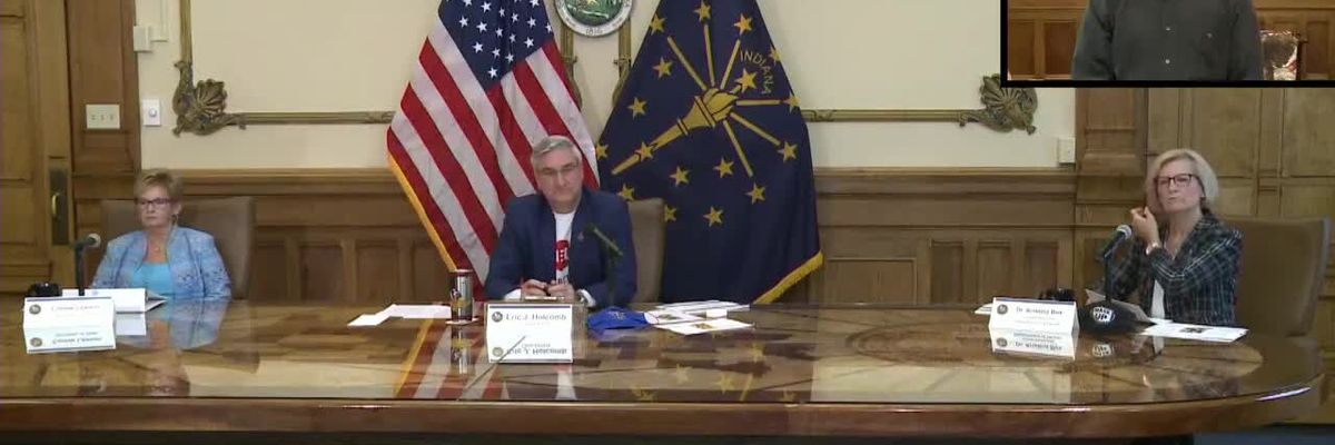 Indiana Gov. Eric Holcomb extends state's mask mandate, updates COVID-19 response