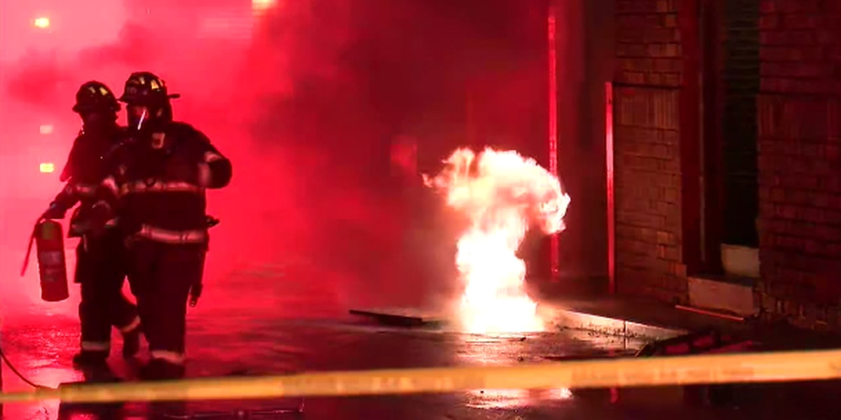 Multiple manhole covers explode off streets across Cleveland (video)