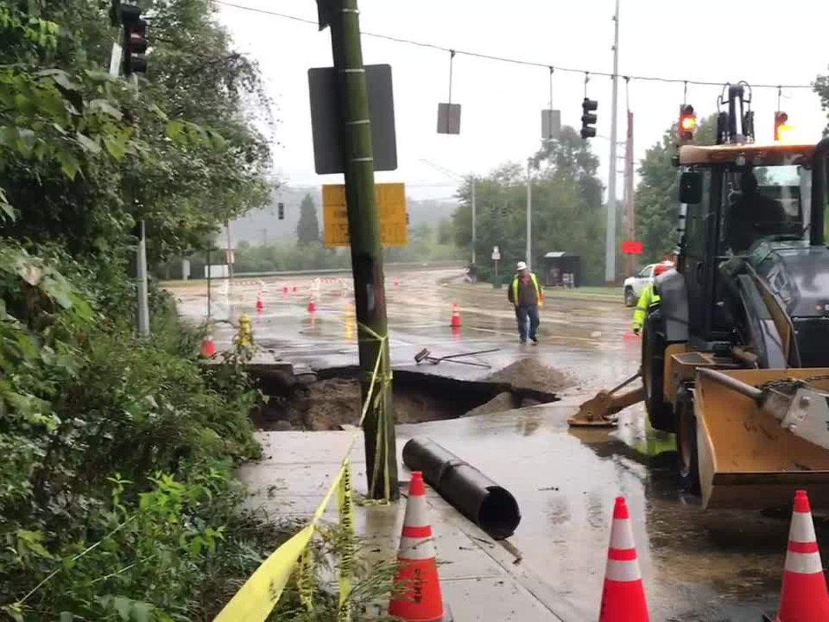 Water main break closes multiple roads in Madisonville