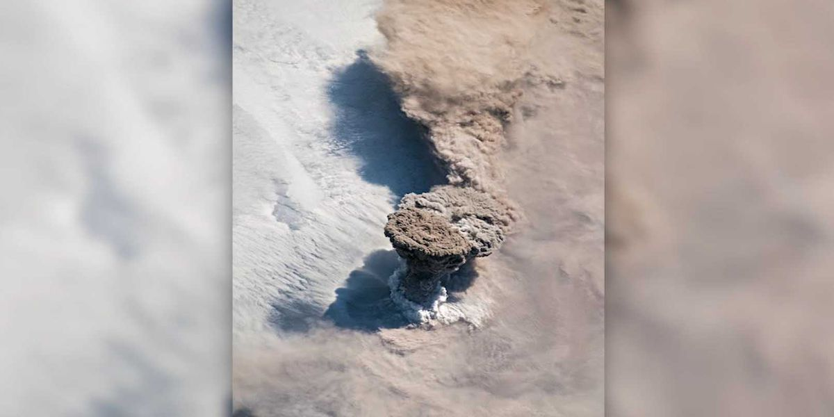 Volcanic eruption spotted from International Space Station