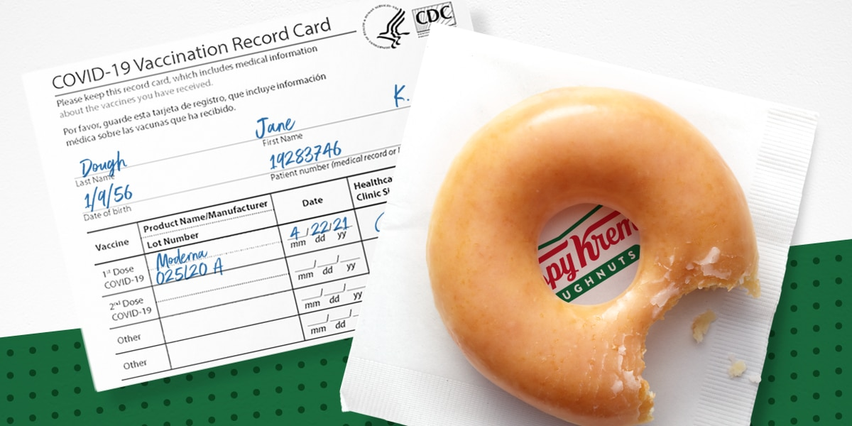 Krispy Kreme offering free doughnuts every day if you've been vaccinated