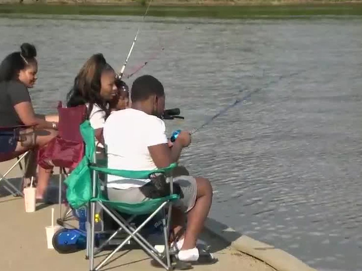 Free fishing days and Father's Day weekend have lakes and rivers busy
