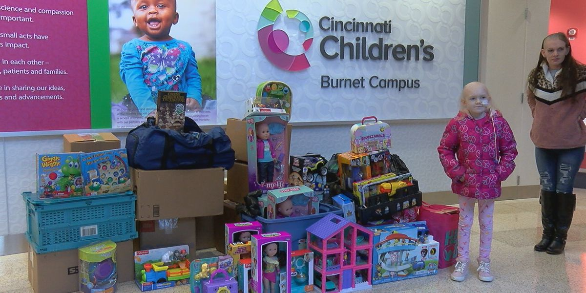 Naomi Short, 8-year-old with brain cancer, delivers toys to other sick kids at Cincy Children's