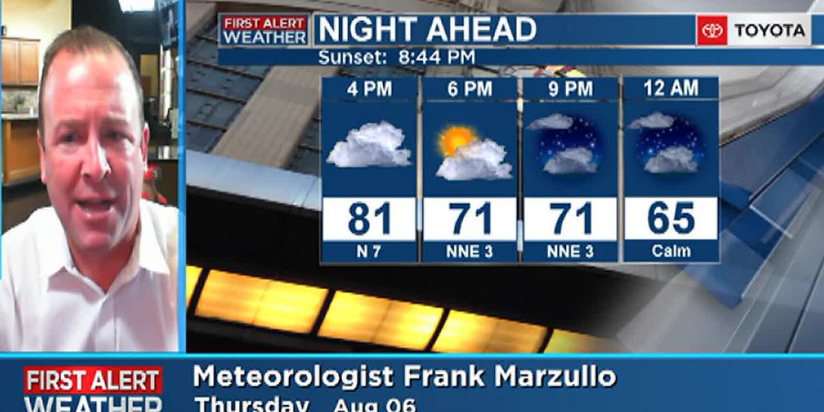 Thursday evening forecast for the Tri-State