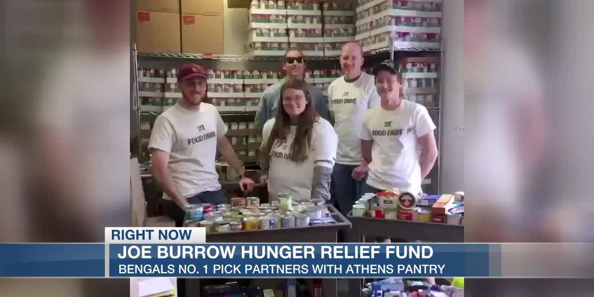 Joe Burrow partners with hometown food pantry for Hunger Relief Fund