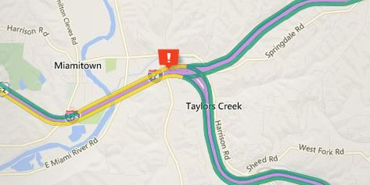 Eastbound I-74 near I-275 is shutdown after crash