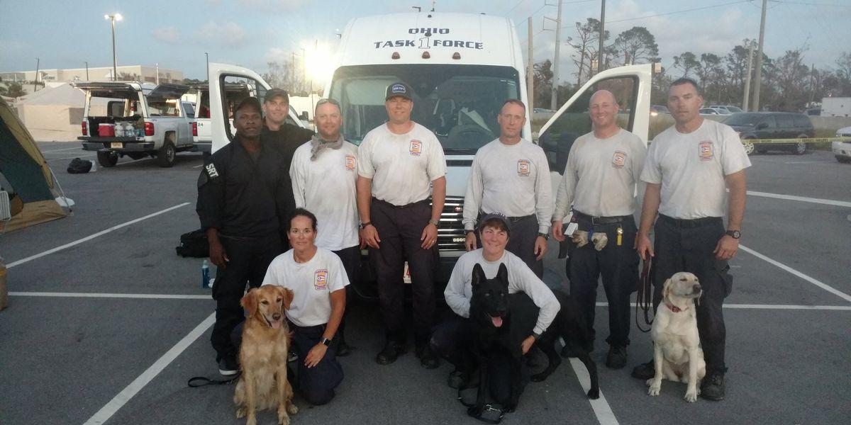 Cincinnati firefighters working to rescue Hurricane Michael victims