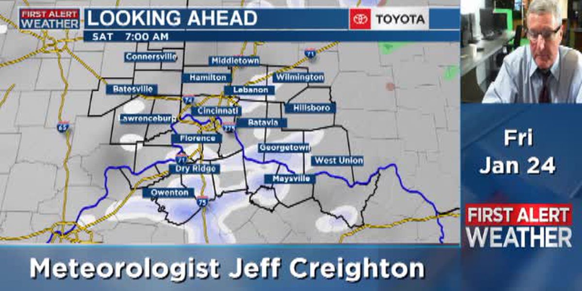Jeff's Friday afternoon forecast 1/24