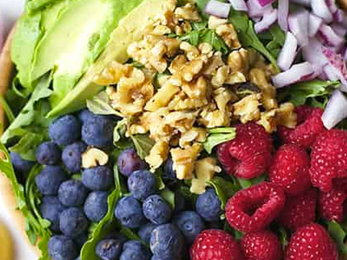 Lemon Blueberry Superfood Salad from the Spicy Olive
