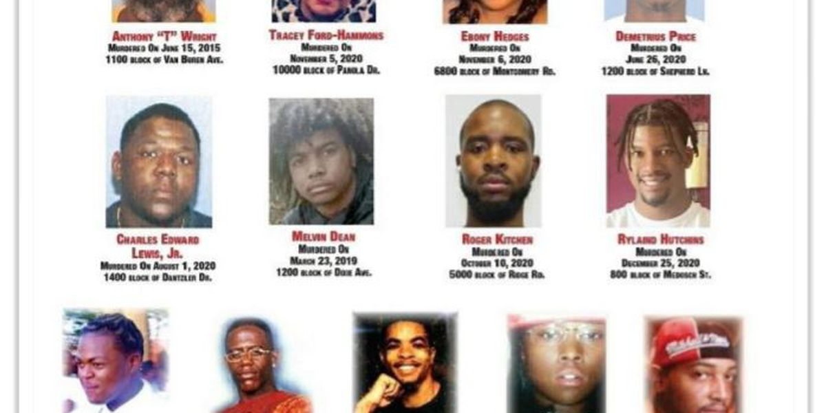 New unsolved homicide posters for victims in Hamilton County