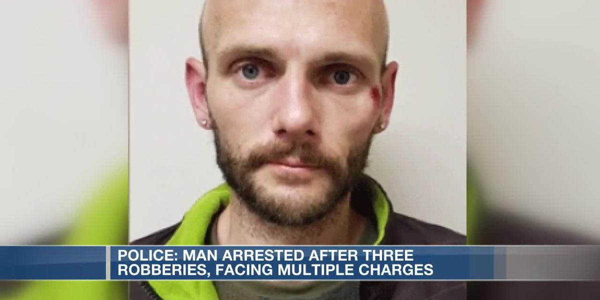 Police: Man arrested after three robberies