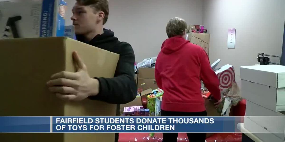 Fairfield students donate thousands of toys for foster children