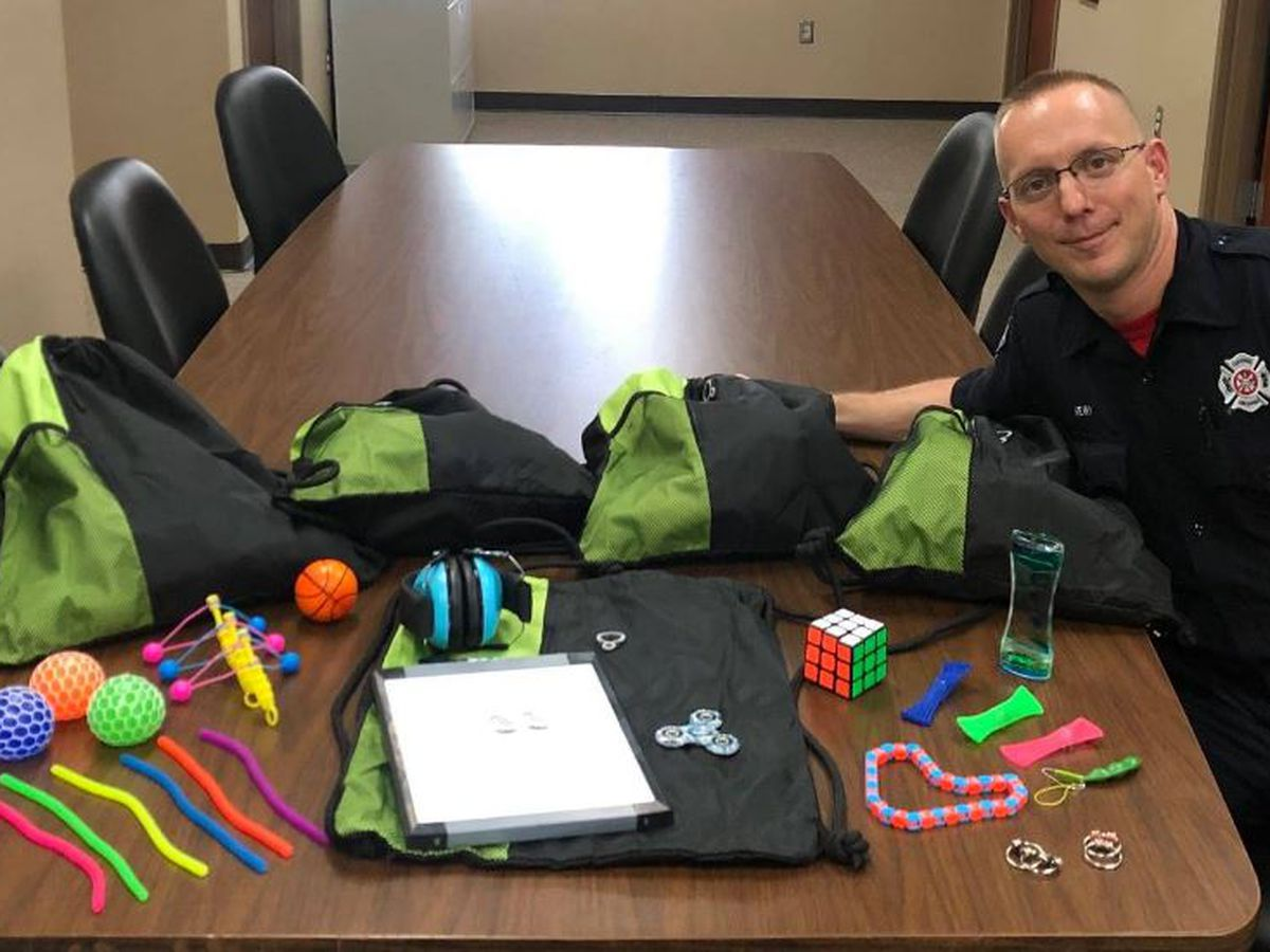 Fire stations add sensory bags for patients with autism