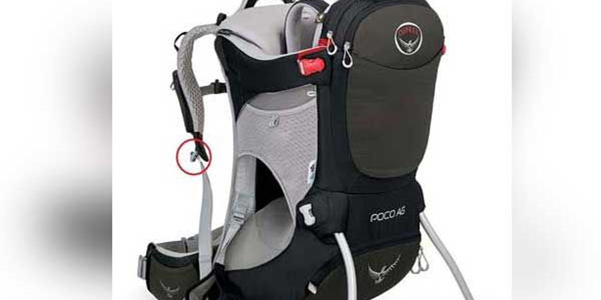 Osprey recalls child backpack carriers
