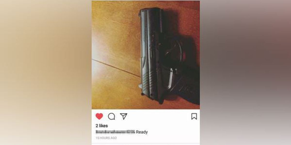 Middle school students charged for Instagram post about gun