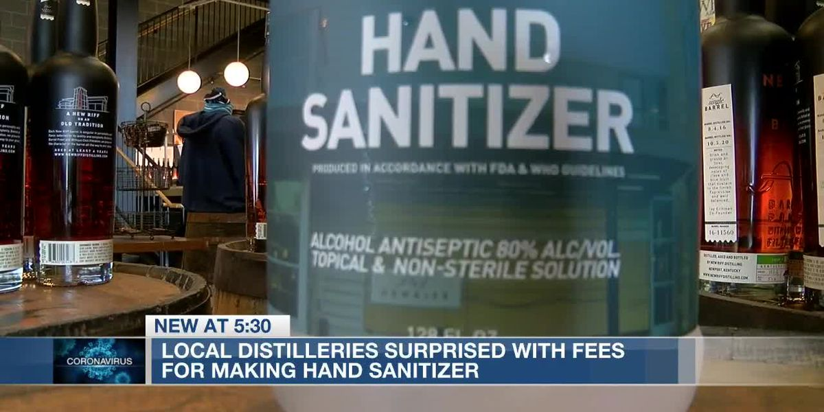 Local distilleries surprised with thousands in fees for making hand sanitizer