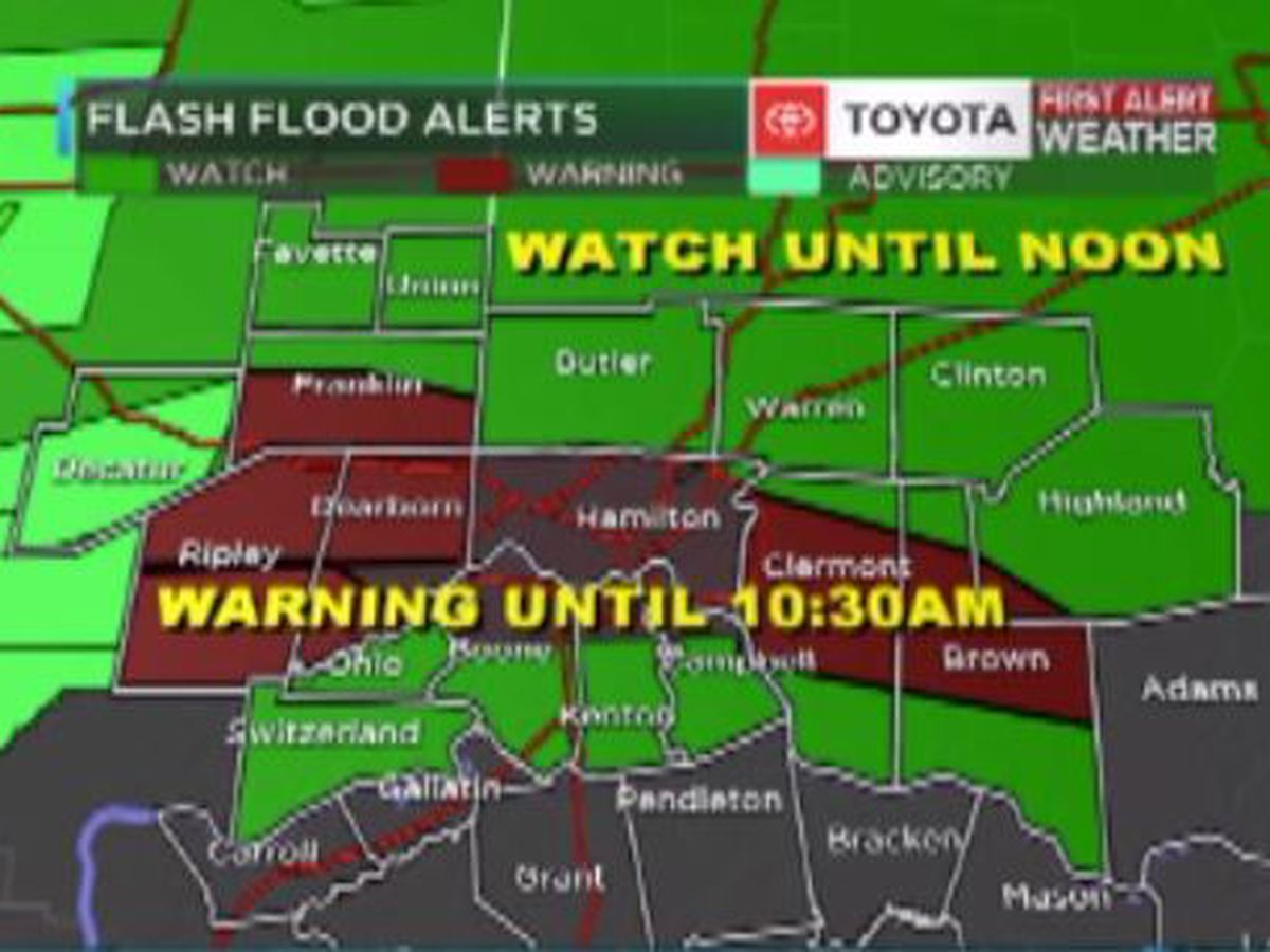 FLASH FLOOD CONCERNS THIS MORNING