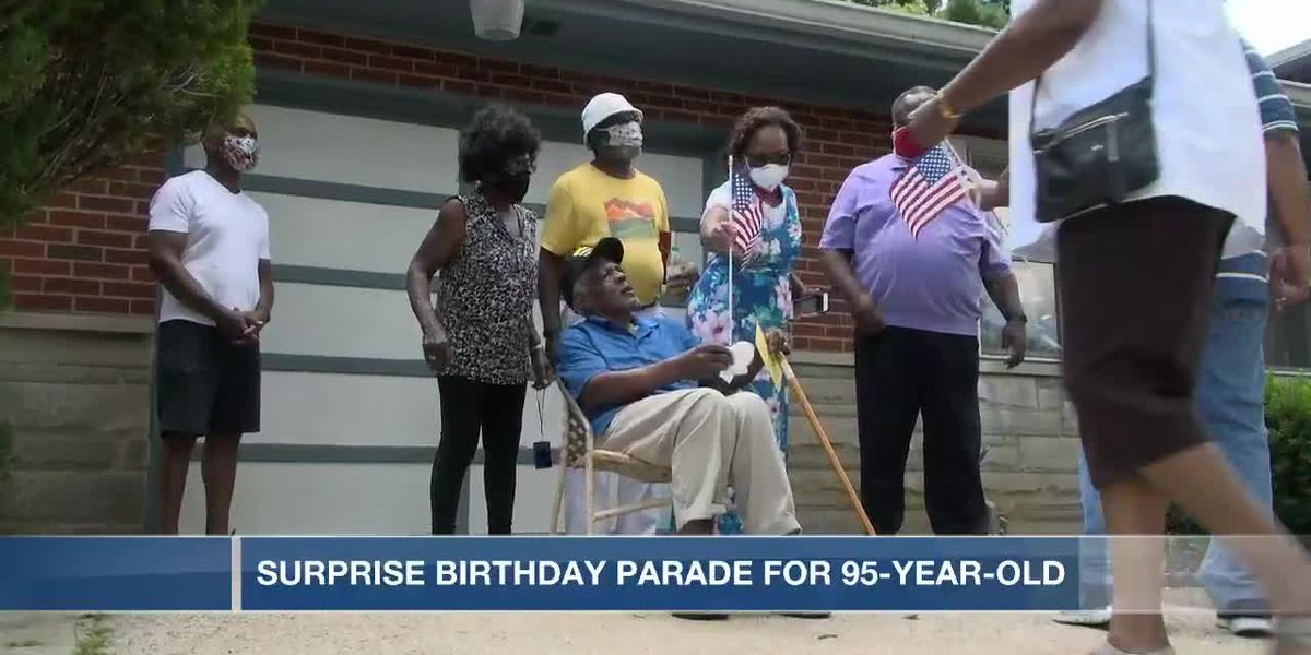 Family, friends throw birthday parade for 95-year-old WWII Veteran