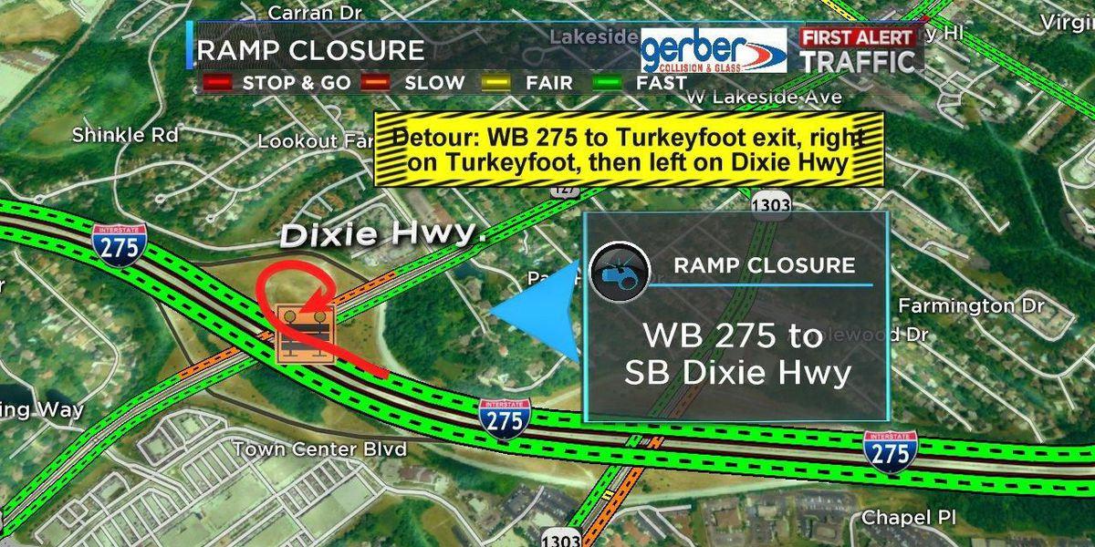 NKY ramp closure on I-275 overnight Thursday