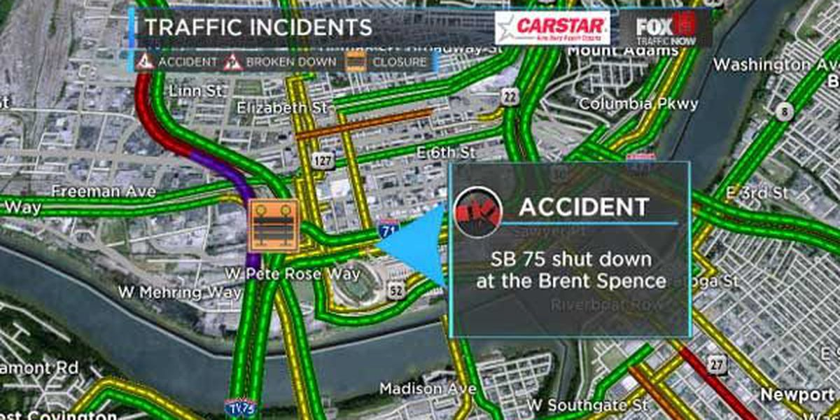 SB I-75 reopens from crash at Brent Spence