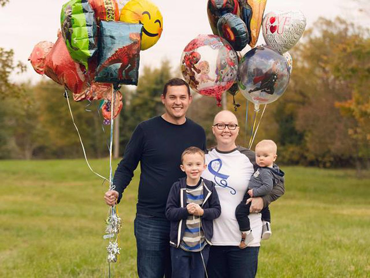 Family facing cancer wants to pay it forward after anonymous 'balloon bopper' surprises them